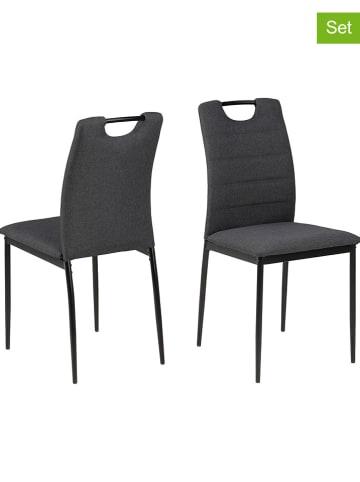 """AC Design 4-delige set: eetkamerstoelen """"Dia"""" grijs - (B)43 x (H)92 x (D)40 cm"""