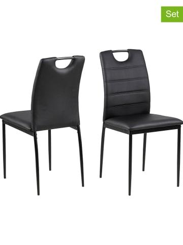 """AC Design Krzesła (2 szt.) """"Dia"""" w kolorze czarnym - 43 x 92 x 40 cm"""