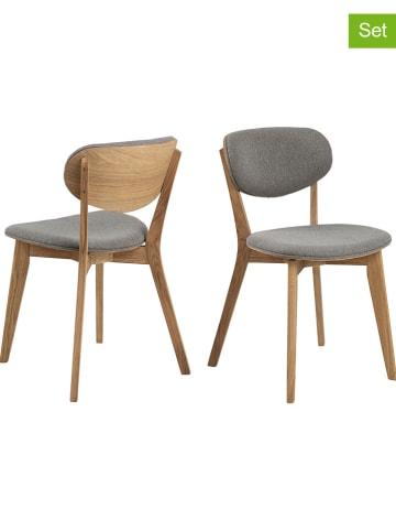 """AC Design Krzesła (2 szt.) """"Minsk"""" w kolorze szarym - 46 x 80 x 40 cm"""
