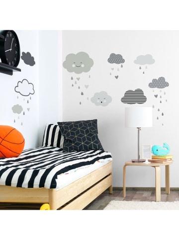 "Ambiance Wandsticker ""Scandinavian Clouds under a gentle rain"""