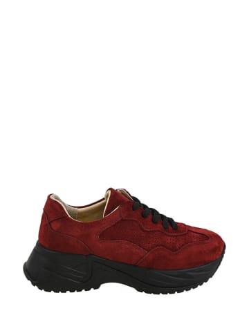Noosy Leren sneakers bordeaux