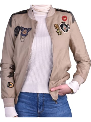 """¡MUCHO GUSTO! Blouson """"Bomber"""" in Taupe"""