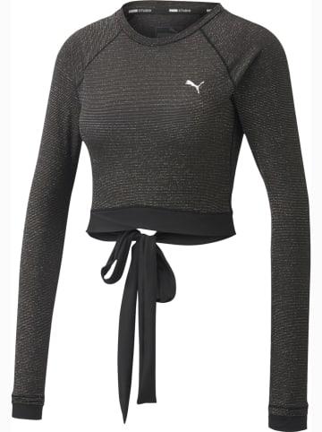 """Puma Trainingsshirt """"Studio Metallic"""" zwart"""
