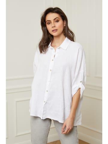 """Fleur de Lin Lniana bluzka """"Coline"""" w kolorze białym"""