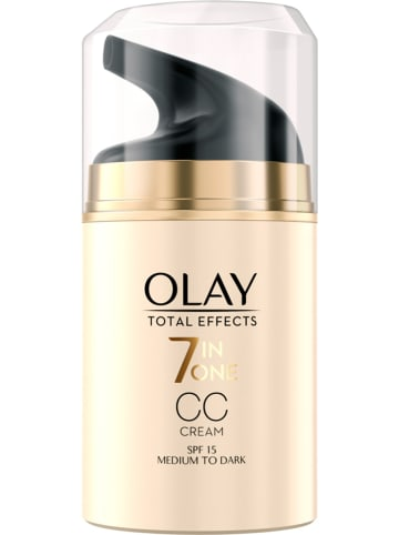 """Olay CC-Creme """"Total Effects 7 in one - mittel bis dunkel"""" - LSF 15, 50 ml"""