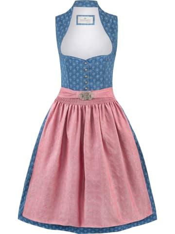 """Stockerpoint Dirndl """"Coraline"""" in Blau/ Rosa"""