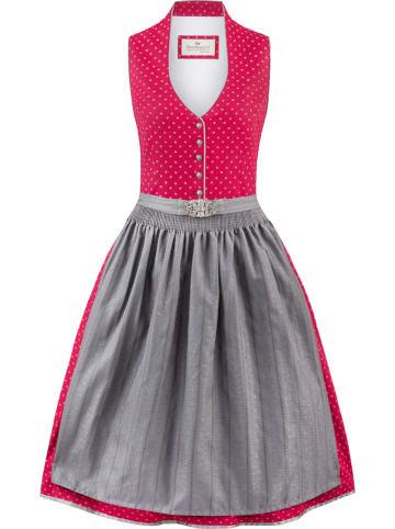"""Stockerpoint Dirndl """"Ivette"""" in Pink/ Grau"""