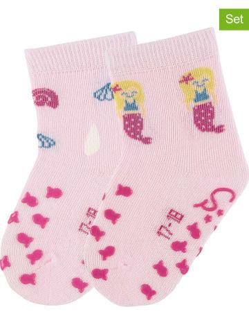 Sterntaler 2er-Set: ABS-Socken in Rosa