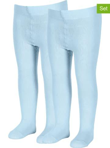 Sterntaler Rajstopy (2 pary) w kolorze błękitnym