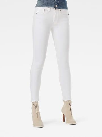 """G-Star Dżinsy """"3301"""" - Skinny fit - w kolorze białym"""