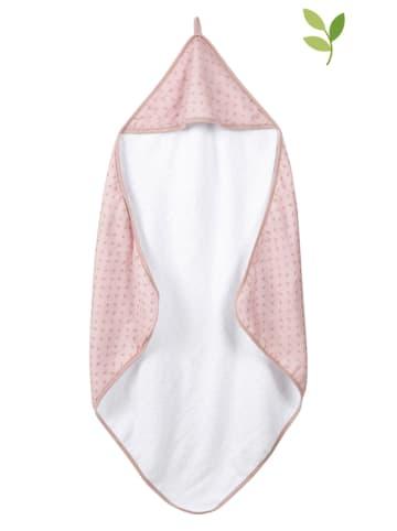 """Roba Ręcznik """"Lil Planet"""" w kolorze jasnoróżowym z kapturem - 80 x 80 cm"""