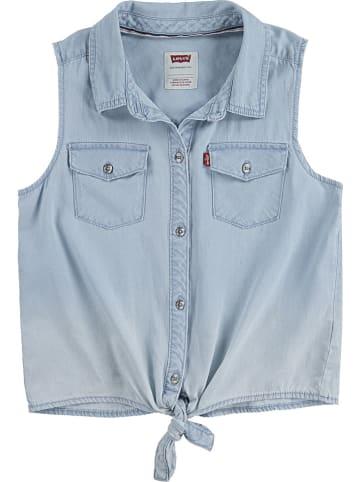 Levi's Kids Bluzka dżinsowa w kolorze błękitnym
