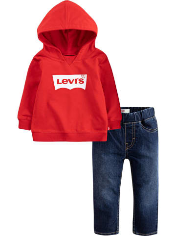 Levi's Kids 2tlg. Outfit in Rot/ Dunkelblau