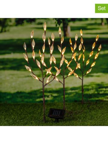Profigarden Solarne lampy ogrodowe LED (3 szt.) w kolorze ciepłej bieli