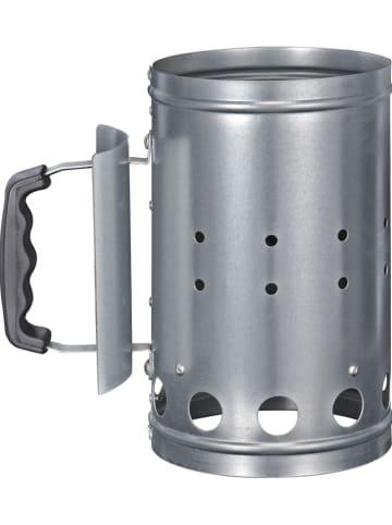 Profigarden Aansteekbak zilverkleurig - (B)24 x (H)27 x (D)16 cm