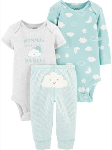 Carter's 4-delige outfit wit/turquoise