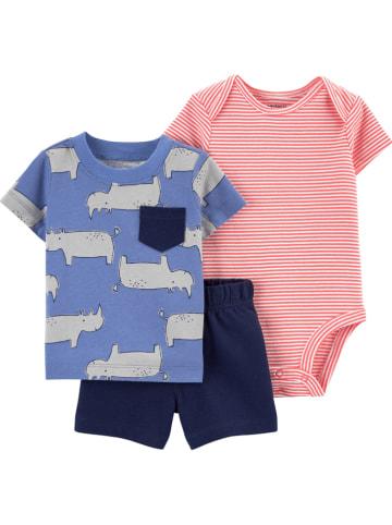 Carter's 3tlg. Outfit in Rosa/ Blau/ Dunkelblau