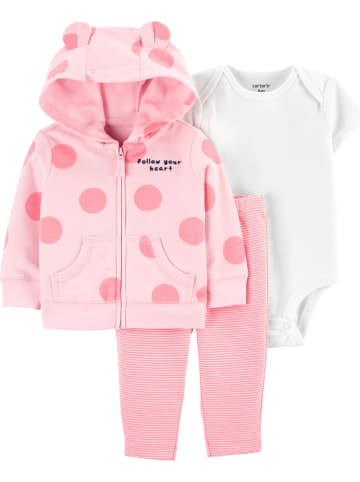 Carter's 3tlg. Outfit in Rosa/ Weiß