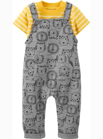 Carter's 2-delige outfit grijs/geel