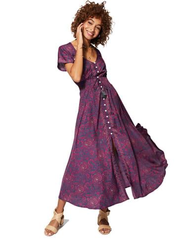 Aller Simplement Sukienka w kolorze czerwono-niebieskim