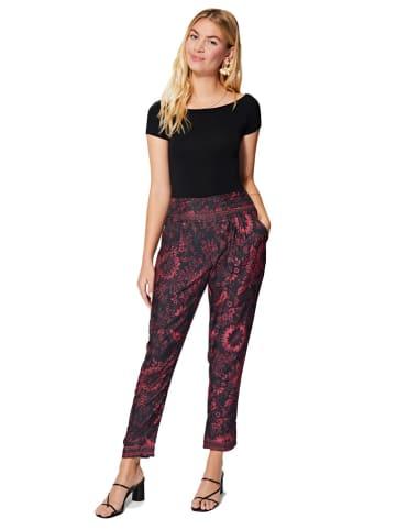 Aller Simplement Spodnie w kolorze czarno-czerwonym