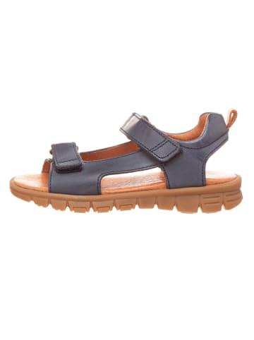 """Bundgaard Skórzane sandały """"Julius"""" w kolorze granatowym"""