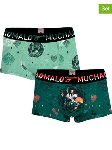 Muchachomalo Bokserki (2 pary) w kolorze zielonym
