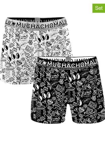 Muchachomalo Bokserki (2 pary) w kolorze czarnym i białym
