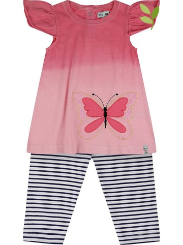 Lilly and Sid 2tlg. Outfit in Pink/ Rosa/ Blau
