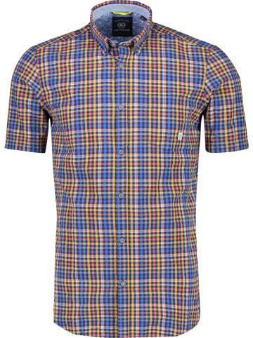 Lerros Koszula - Casual fit - w kolorze pomarańczowo-niebieskim