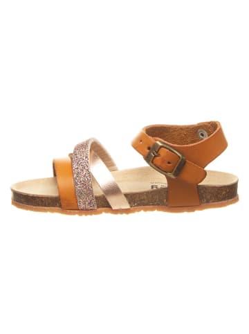 Billowy Sandały w kolorze karmelowo-złotym