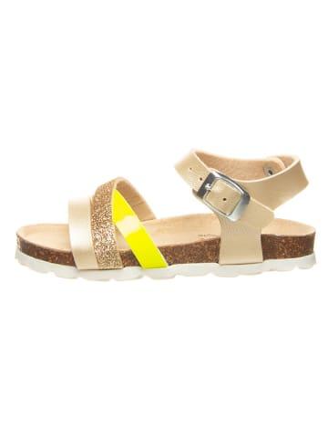 Billowy Sandały w kolorze złotym