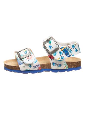 Billowy Sandały w kolorze niebiesko-białym