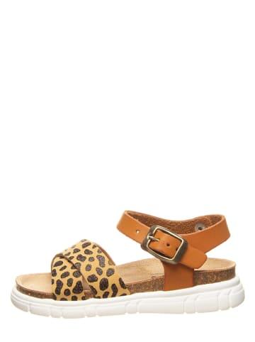 Billowy Sandały w kolorze jasnobrązowo-musztardowym