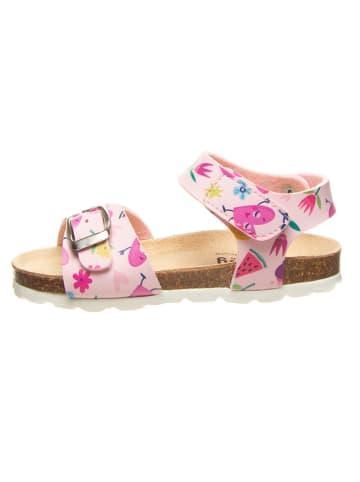 Billowy Sandały w kolorze jasnoróżowym ze wzorem