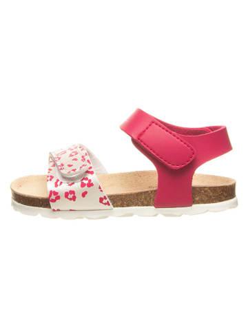 Billowy Sandały w kolorze różowo-srebrnym
