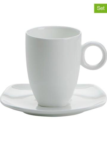 """Maxwell & Williams 6er-Set: Espressotassen """"Cashmere"""" in Weiß - 80 ml"""