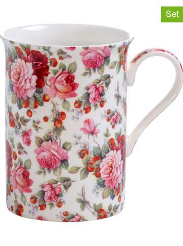 """Maxwell & Williams 2er-Set: Kaffeetassen """"Sommerrose"""" in Rosa - 300 ml"""