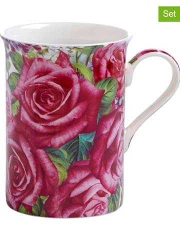 "Maxwell & Williams 2er-Set: Kaffeetassen ""Edelrose"" in Pink - 300 ml"
