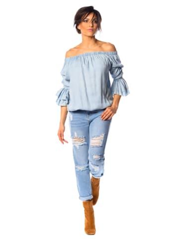 """La Fabrique du Jean Bluzka dżinsowa """"Assia"""" w kolorze błękitnym"""
