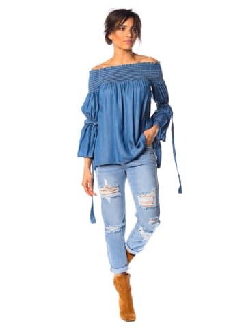 "La Fabrique du Jean Bluzka dżinsowa ""Claire"" w kolorze niebieskim"