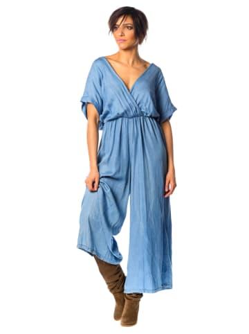 """La Fabrique du Jean Spijkerjumpsuit """"Coco"""" lichtblauw"""