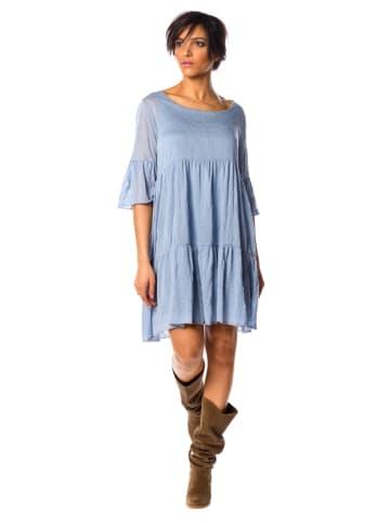 """La Fabrique du Jean Lniana sukienka """"Debo"""" w kolorze błękitnym"""
