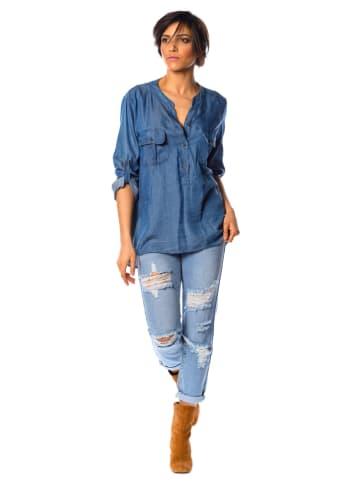 "La Fabrique du Jean Jeansbluse ""Olivia"" in Blau"