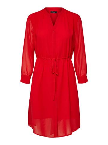 """SELECTED FEMME Sukienka """"Slfshelly-Damina"""" w kolorze czerwonym"""