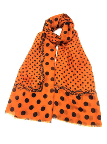 INKA BRAND Sjaal oranje/meerkleurig - (L)185 x (B)92 cm