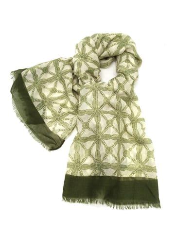 INKA BRAND Sjaal lichtgroen/meerkleurig - (L)186 x (B)90 cm