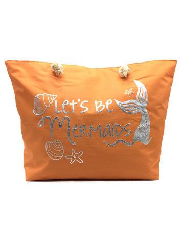 INKA BRAND Strandtasche in Orange - (B)53 x (H)39 cm