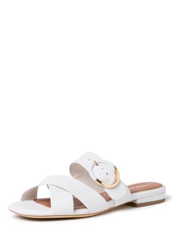 Tamaris Leren slippers wit