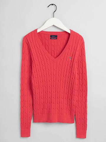 Gant Sweter w kolorze koralowym